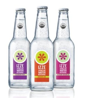 IZZE Organic Flavored Sparkling Water Beverage, 12 oz. Bottles, 3-Flavor, Variety Pack (12 Count)