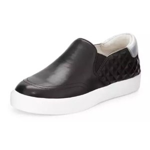 Ash Idol Bis Leather Sneaker, Black/Antic Silver