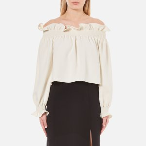 Diane von Furstenberg Women's Georgie Off the Shoulder Top - Canvas White - Free UK Delivery over £50