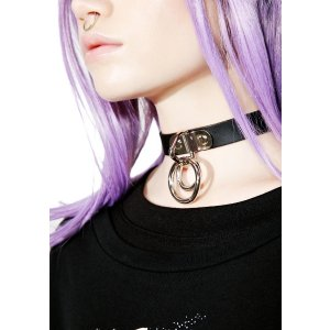 Club Exx Dueling Forces O-Ring Choker | Dolls Kill