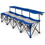 $19 Ozark Trail Convertible Bench, 225 lb Capacity, Blue