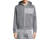 Moncler Neoprene Logo Zip-Up Hoodie, Tipped Crewneck Short-Sleeve Tee & Zip-Pocket Knit Sweat Shorts
