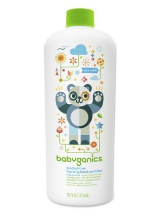 $5.69 Babyganics Alcohol-Free Foaming Hand Sanitizer Refill, Fragrance Free, 16oz Bottle
