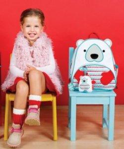 Skip Hop Zoo Winter Backpack & Plush Set - Polar Bear