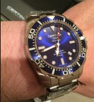 $575 CERTINA DS Action Diver Automatic Blue Dial Stainless Steel Men's Watch