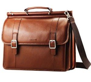 Samsonite Leather Dowel Flapover Business Case