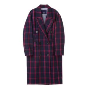 [Luckychouette]Check Maxi Coat