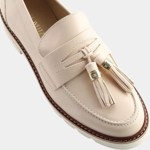 Stuart Weitzman Manila Polished Leather Tassel Loafer Loafers | ELEVTD Free Shipping & Returns