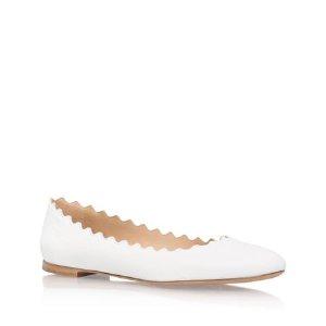 Chloé Scallop Leather Flats