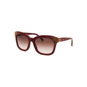 Chloe CE626S-603-55 Sunglasses,Women's Square Bordeaux Sunglasses, Sunglasses Chloe Women's Sunglasses