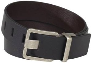 Calvin Klein Men's 38mm Feather Edge Semi Shine Belt with Smooth Leather Harness