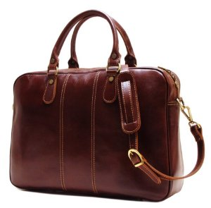 $159 Floto Venezia Slim Brown Briefcase