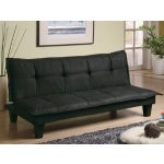 Coaster Contemporary Sofa/Bed, Black