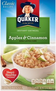 $8.16 + Free Shipping Quaker Instant Oatmeal, Apples & Cinnamon, Breakfast Cereal, 10-(1.51oz) Packets Per Box (Pack of 4)