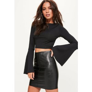 Faux Leather Mini Skirt Black - Skirts - Mini Skirts - Missguided