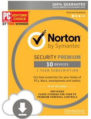 Norton Security Premium 10 Devices Download Code