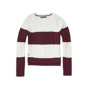 Th Kids Stripe Cable Sweater