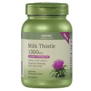 GNC Herbal Plus® Milk Thistle 1300 MG