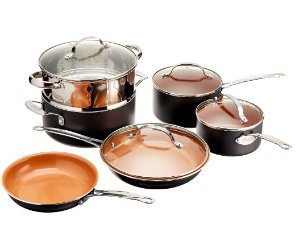 GOTHAM STEEL 10 Piece Kitchen Nonstick Frying Pan and Cookware Set