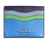 COACH Card Case in Colorblock Leather