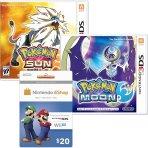 15% Off A Nintendo Prepaid Card w/ Pokemon Sun/Moon Pre-Order