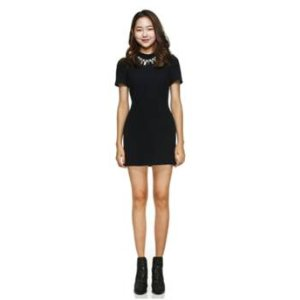 [LUCKY CHOUETTE] Square tweed mini dress
