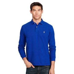 Custom Fit Long-Sleeve Polo - Custom Fit � Polo Shirts - RalphLauren.com