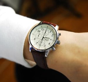$95 Seiko Stainless Steel Chronograph Mens Watch SNDC31