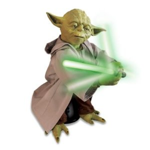$23.99 Clearence Star Wars Legendary Yoda Interactive Toy by Spin Master