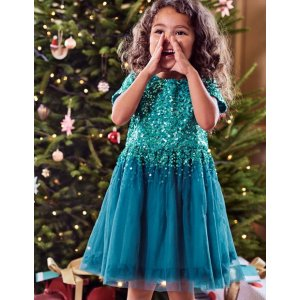 Sequin Tulle Dress 33493 Dresses at Boden