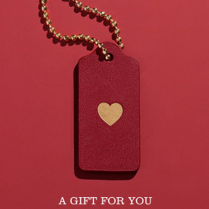 Free Valentine's Day HangtagWith Any Purchase $300+ @ Coach