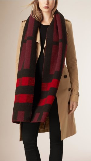 Burberry Mega Wool & Cashmere Blanket Scarf