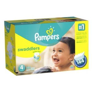 Only for prime! Pampers Swaddlers Diapers Economy Pack Plus, Size 4, (144 Count)