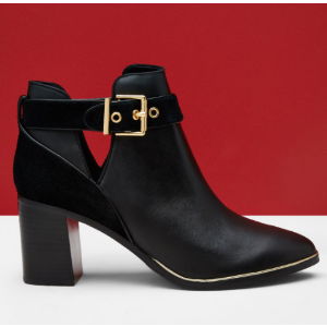 Cut-out leather ankle boots - Black | Shoes | Ted Baker