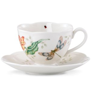 Butterfly Meadow Dragonfly Cup & Saucer by Lenox