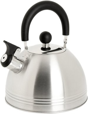 Mr. Coffee Carterton Stainless Steel Whistling Tea Kettle, 1.5-Quart
