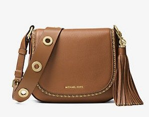 $238.8($398) + Up to 30% Off MICHAEL Michael Kors Brooklyn Medium Leather Saddlebag