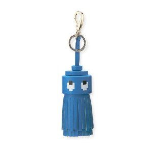 Anya Hindmarch Ghost Tassel in Sea Blue Circus