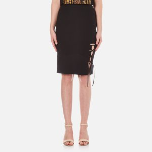 Alexander Wang Women's Pencil Side Slit Lacing Skirt - Matrix - Free UK Delivery over £50