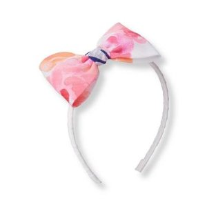 Baby Girl Paradise Rose Print Rose Chiffon Headband at JanieandJack