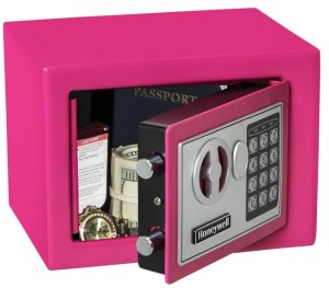 Honeywell - 0.17 Cu. Ft. Security Safe, Variety of Colors
