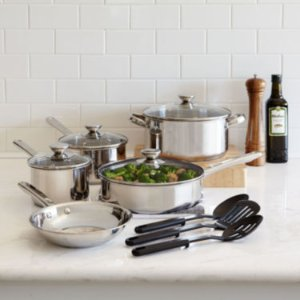 $24.99 After Rebate Cooks 12-pc. Stainless Steel Cookware Set