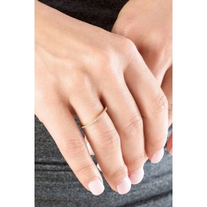 Gorjana Shimmer Bar Ring in Gold
