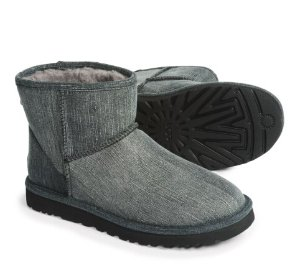 UGG® Australia Classic Mini Washed Denim Men's Boots