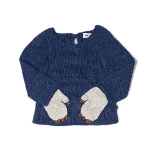 Monster Sweater-Indigo/White