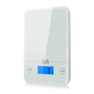 Deik Digital Touch Kitchen and Food Scale (5kg/11lb), Tempered Glass in Clean White