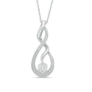Diamond Accent Twist Pendant in Sterling Silver - Save on Select Styles - Zales