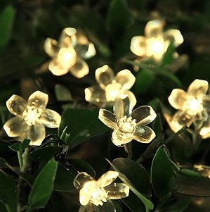 Innoo Tech Solar String Lights Outdoor Flower Garden Light 21ft 50 LED Blossom Lighting