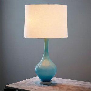 west elm + Rejuvenation Colored Glass Table Lamp - Light Blue | west elm