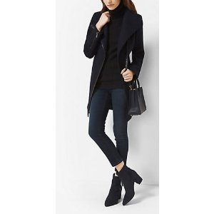 MICHAEL MICHAEL KORS  Faux Leather-Trimmed Wool And Cashmere Coat